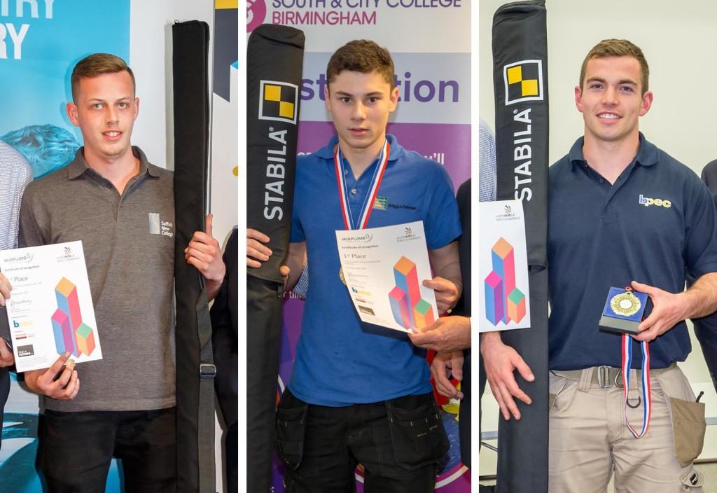 L-R SkillPLUMB Owen Boswell, Daniel Martins, Thomas Strong