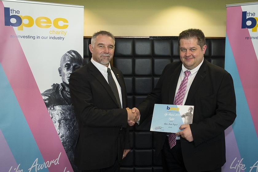 BPEC Trustee Mark Antrobus with Danny Jones