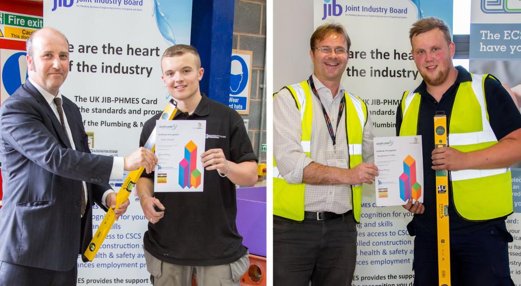 SkillPLUMB heat winners Jack Sturdy (l) and Benjamin Cooke (r)